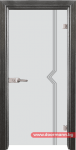 Стъклена врата модел Gravur 13-3 – Сив кестен