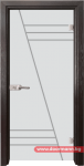 Стъклена врата модел Gravur 13-4 – Венге