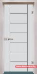 Стъклена врата модел Gravur 13-6 – Перла