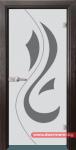 Стъклена врата модел Sand 14-10 – Венге