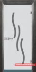 Стъклена врата модел Sand 14-2 – Сив кестен