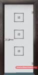 Стъклена врата модел Sand 14-3 – Венге